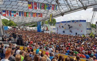 Weltcup Bouldern in München : Augen voll mit Sternen